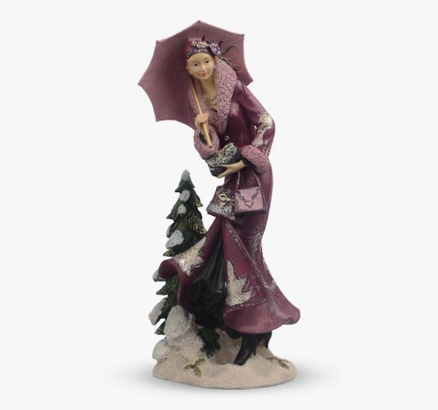 Статуэтка Девушка с ёлочкой