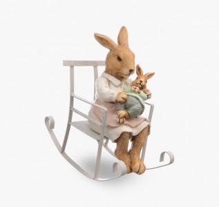 Статуэтка Кролик-мама с малышом
