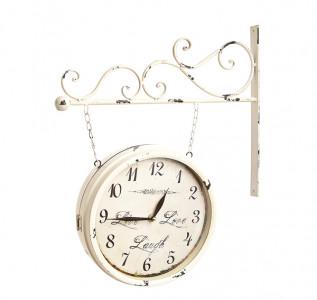 Часы на кронштейне Белый ажур