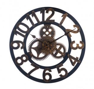 Часы лофт Механизм коричневые
