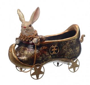 Статуэтка Кролик-бонбоньерка на колесиках