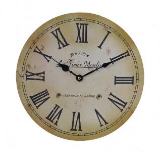 Часы настенные круглые Римское ретро