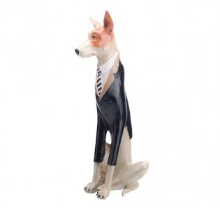 Статуэтка Собака пинчер в черном фраке