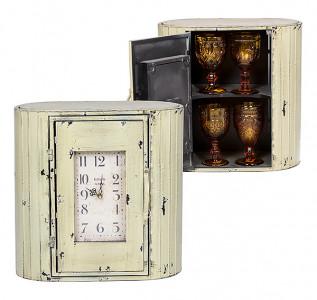 Часы-шкаф металлические бежевые