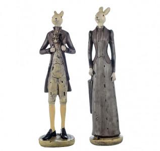 Статуэтка Кролики дама с кавалером