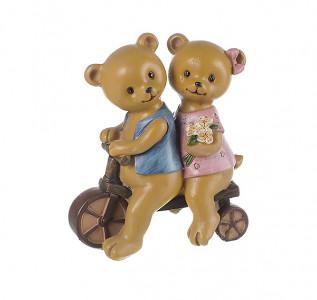 Статуэтка Семья мишек на велосипеде