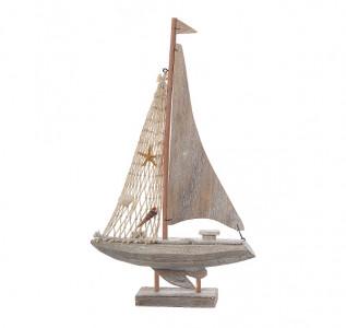Статуэтка Яхта декоративная Морская ракушка