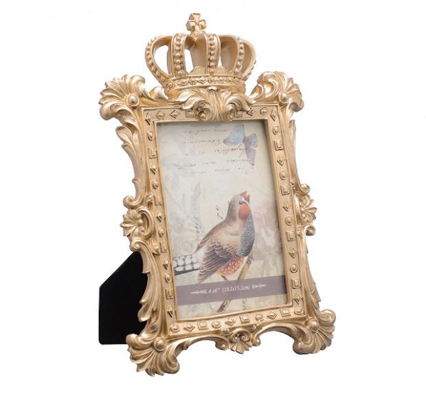Фоторамка золотистая Королевская малая