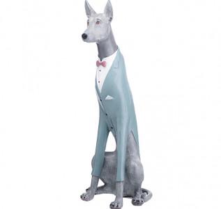 Статуэтка Собака пинчер в голубом фраке