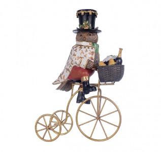 Статуэтка Филин на велосипеде