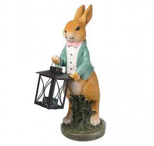 Статуэтка Кролик профессор с фонарем