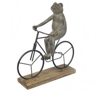 Статуэтка Лягушка-весельчак на велосипеде
