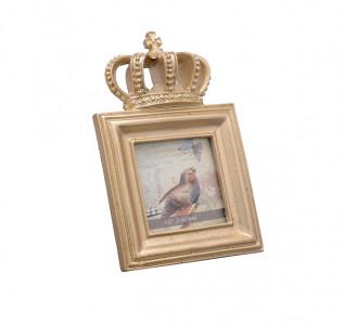 Фоторамка Королевская золотистая квадратная