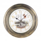 Часы настенные Чернёное золото