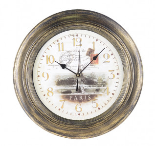 Часы настенные Черненое золото