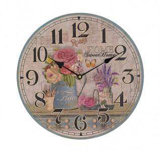 Часы настенные круглые Домашний сад