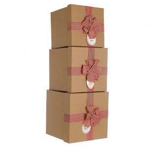 Набор подарочных коробок Красный бант