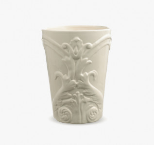 Ваза керамическая белая Орнамент