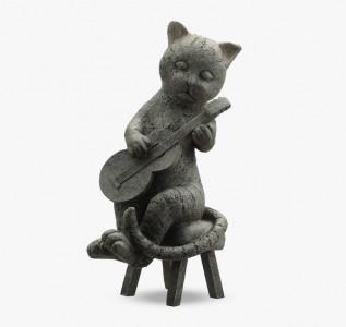 Статуэтка Кот гитарист