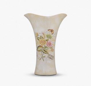 Ваза полиустома Oblique Flowers in Beige малая
