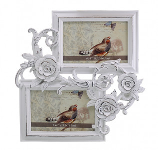 Фоторамка фотоколлаж Чайная роза (2 фото)