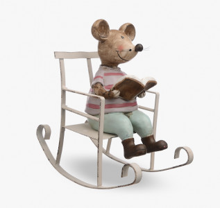 Статуэтка Мышка в кресле-качалке