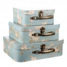 Набор подарочных коробок Голубой чемоданчик