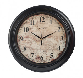 Часы настенные черные London 1905