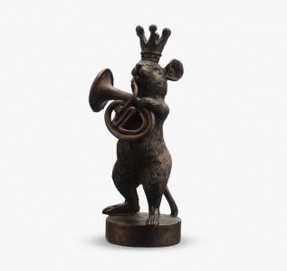 Статуэтка Мышонок трубач в короне