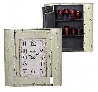 Часы-шкаф бежевые
