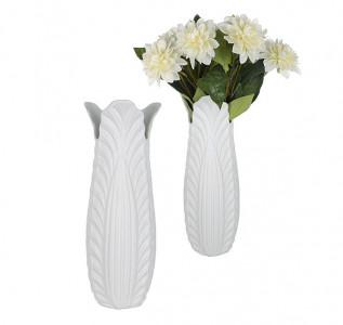 Ваза керамическая Белые лепестки L