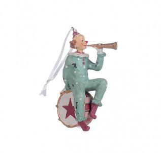 Статуэтка-подвеска Клоун трубач
