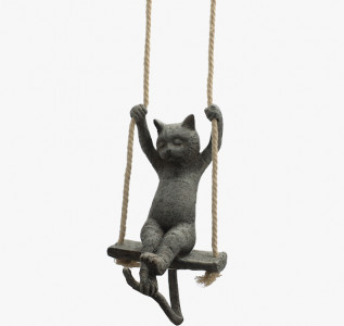 Статуэтка Кот мечтатель на подвесных качелях