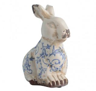 Статуэтка Кролик Небесный лазурит сидит