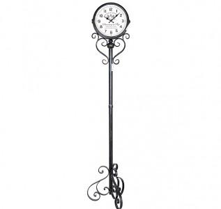 Часы напольные металлические