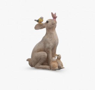 Статуэтка Зайчик с птичками малый