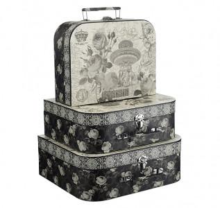 Набор подарочных коробок-чемоданов Black and White