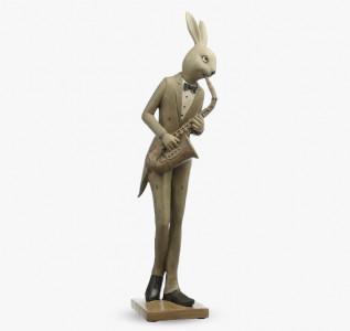 Статуэтка Кролик саксофонист