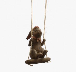 Статуэтка Кролик мечтатель на подвесных качелях