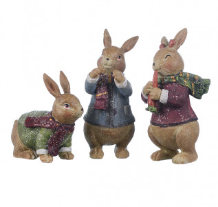 Статуэтка Трио кроликов