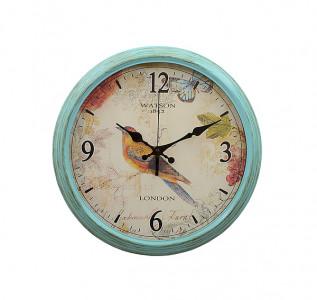 Часы Певчая птичка в голубом
