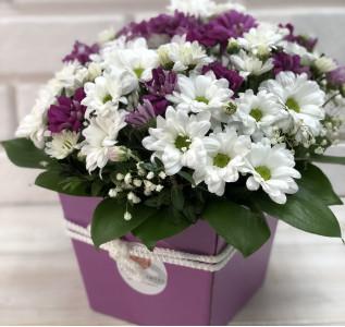 Композиция в коробке Фиолетовое настроение