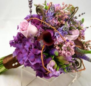 Букет невесты Сиреневое вдохновение