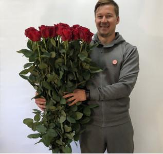 Букет из высокой розы 160см