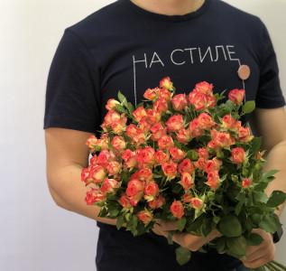 Букет Красная кустовая роза 11