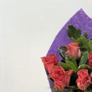 Букет Маленькое чудо в фиолетовой упаковке