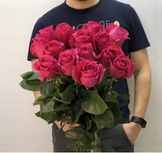 Букет Отпечаток поцелуя 15 роз