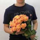 Букет из роз персиковых 19