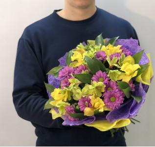 Букет Желто фиолетовая нежность