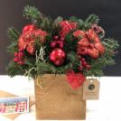 Композиция в деревянной коробке Канун Рождества